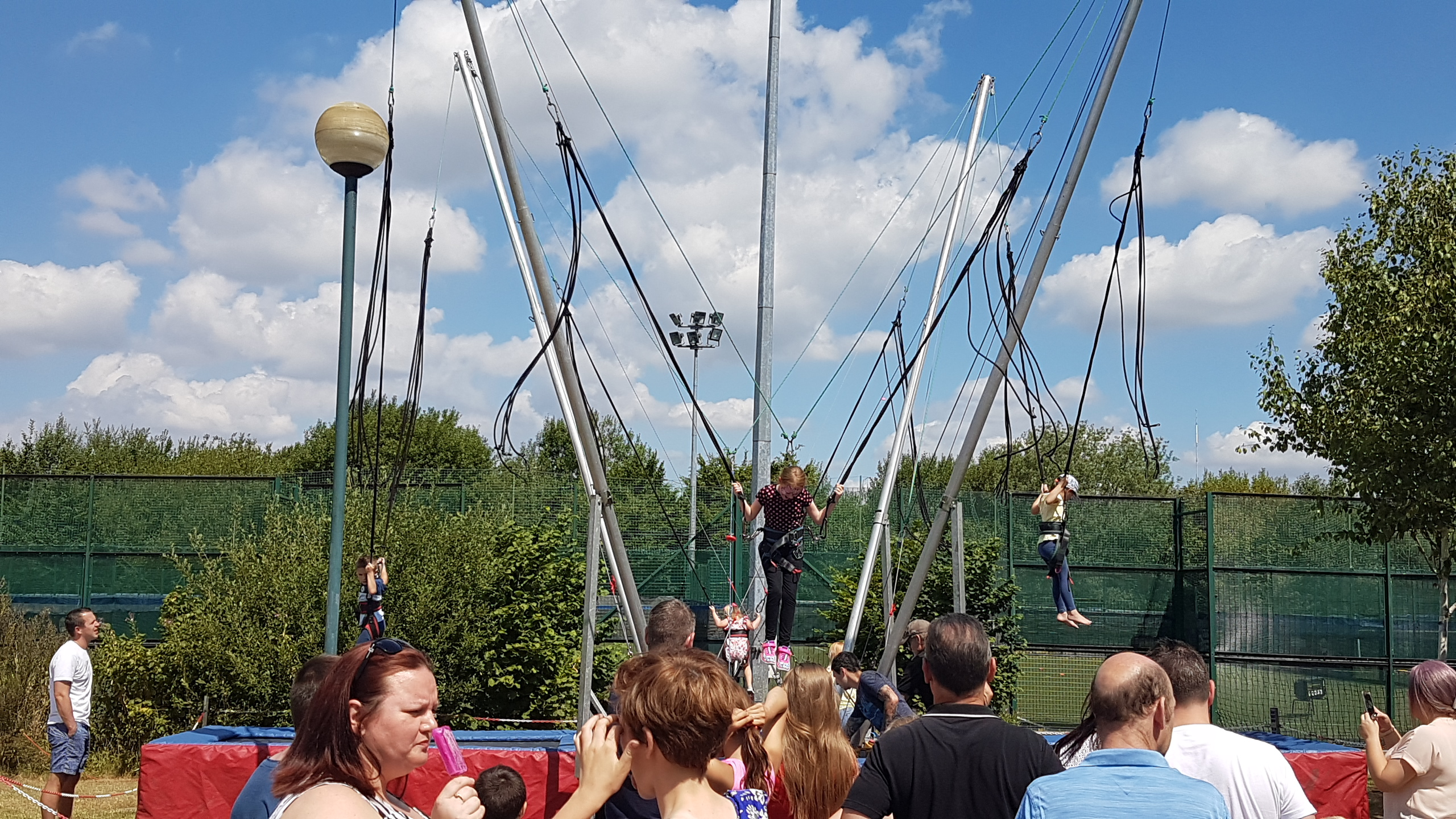 Bungee trampoline hire