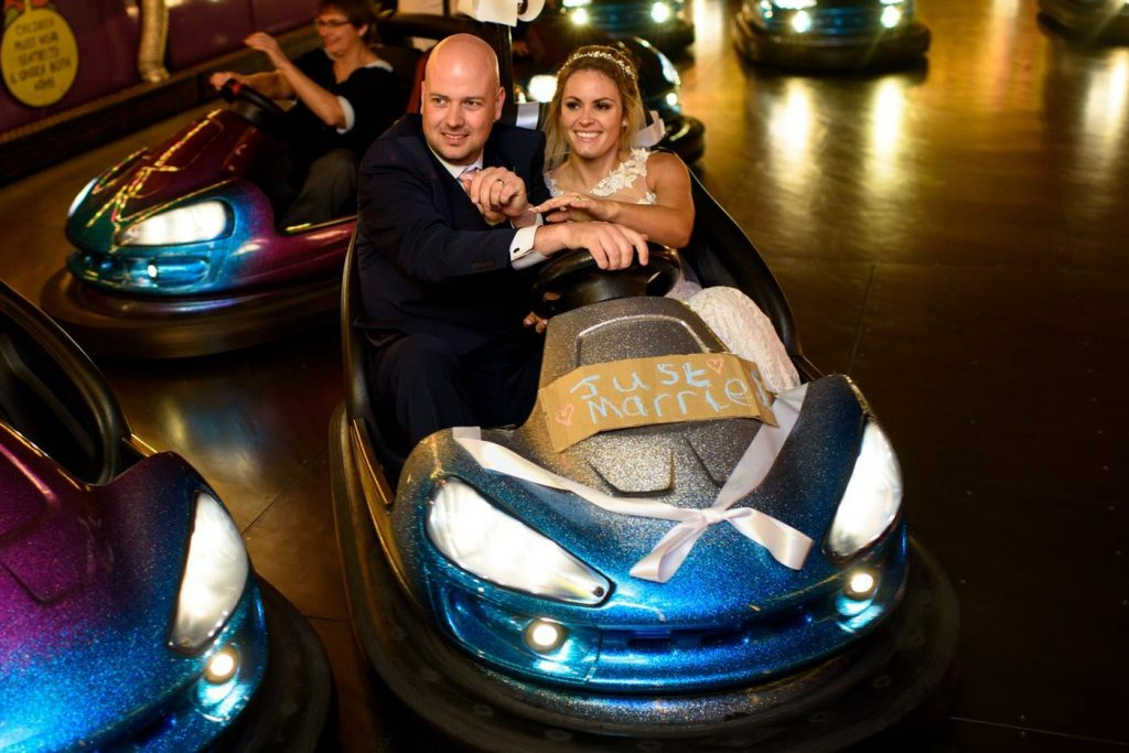 hire dodgems for wedding