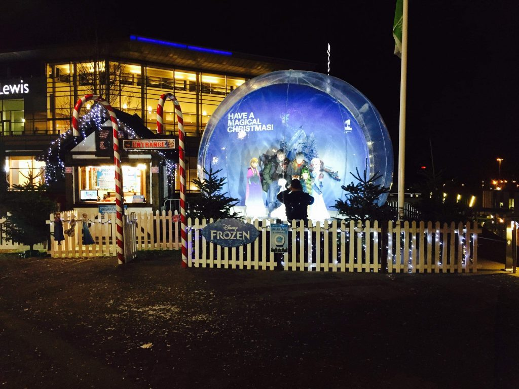 Giant snow globe hire