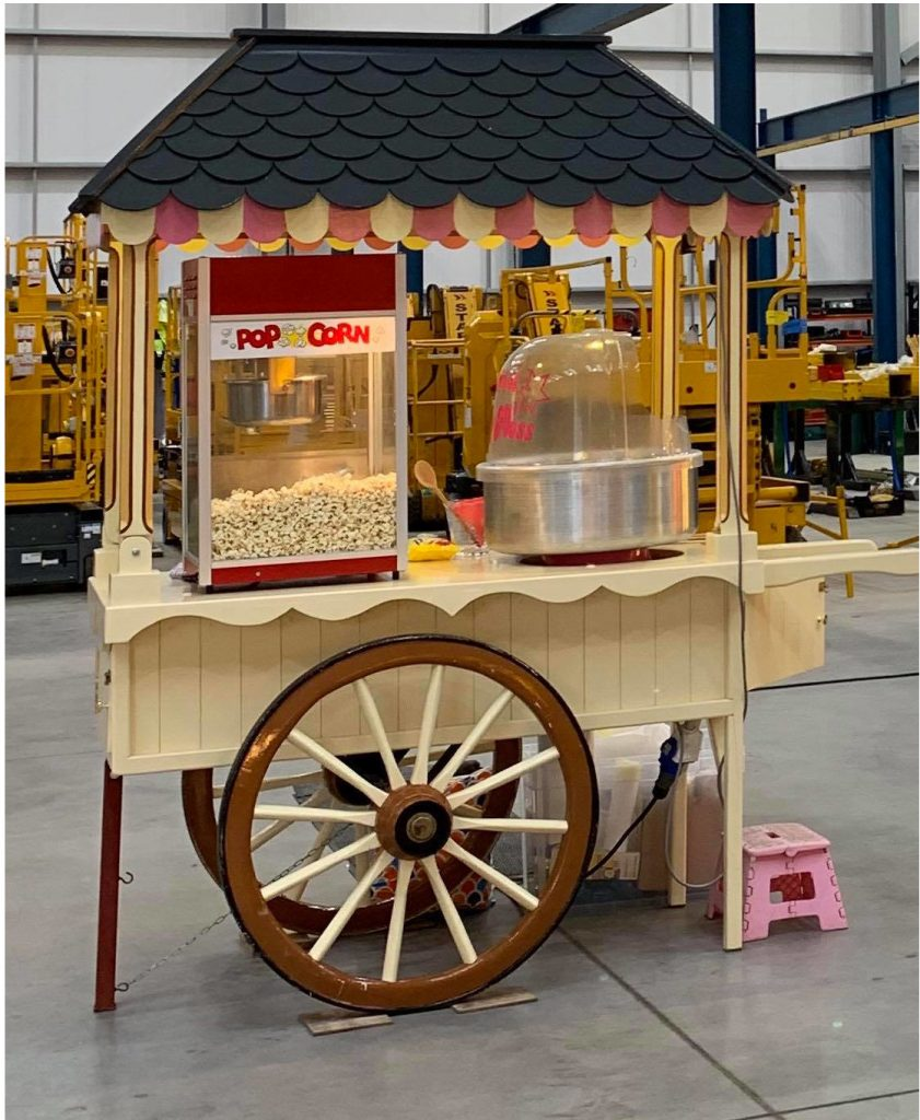 candy floss & popcorn cart