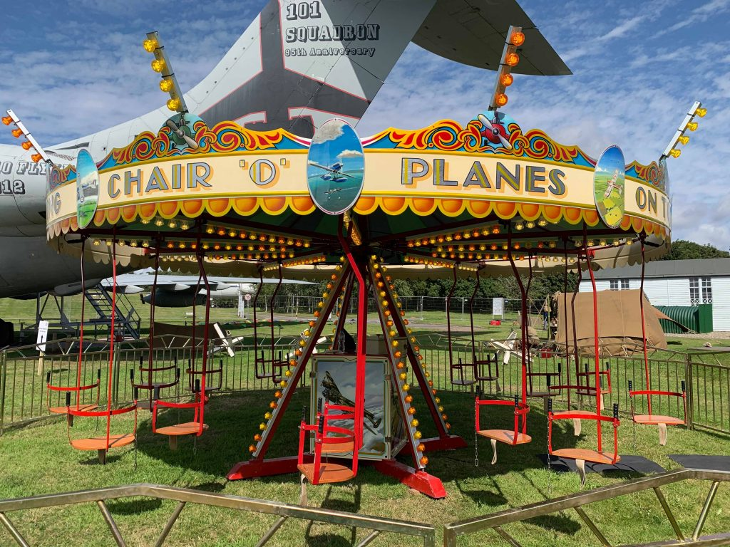 Traditional funfair flying chairs