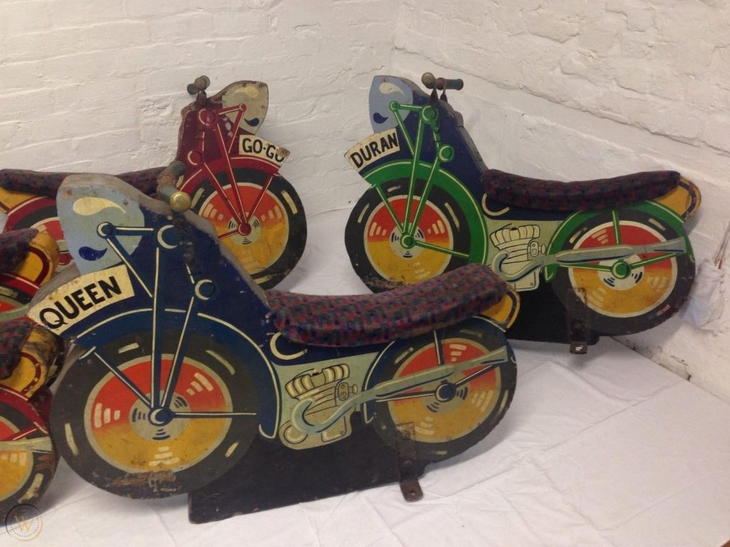 Funfair prop speedway bikes