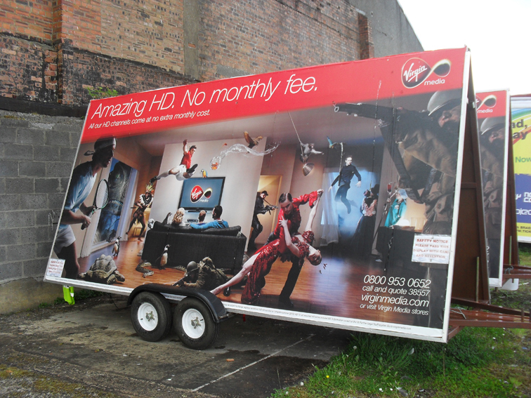 advertising trailer hire